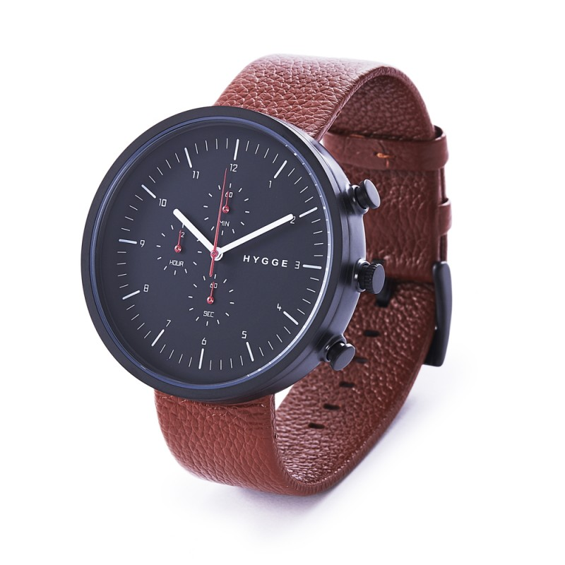 Montre Chronograph Hygge Horizon Marron