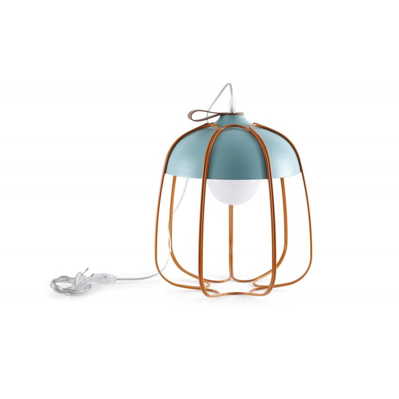 Lampe à poser Design Tull Bleu et Orange - Incipit